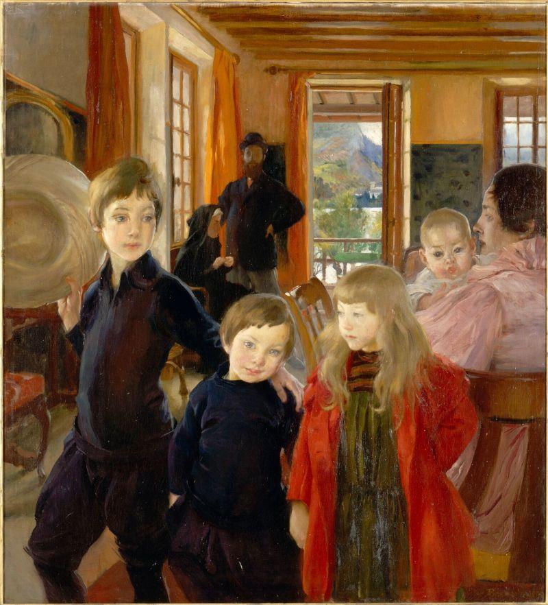 Albert Besnard - une famille