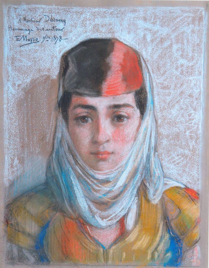 Michel Nedjar - Portrait de jeune femme