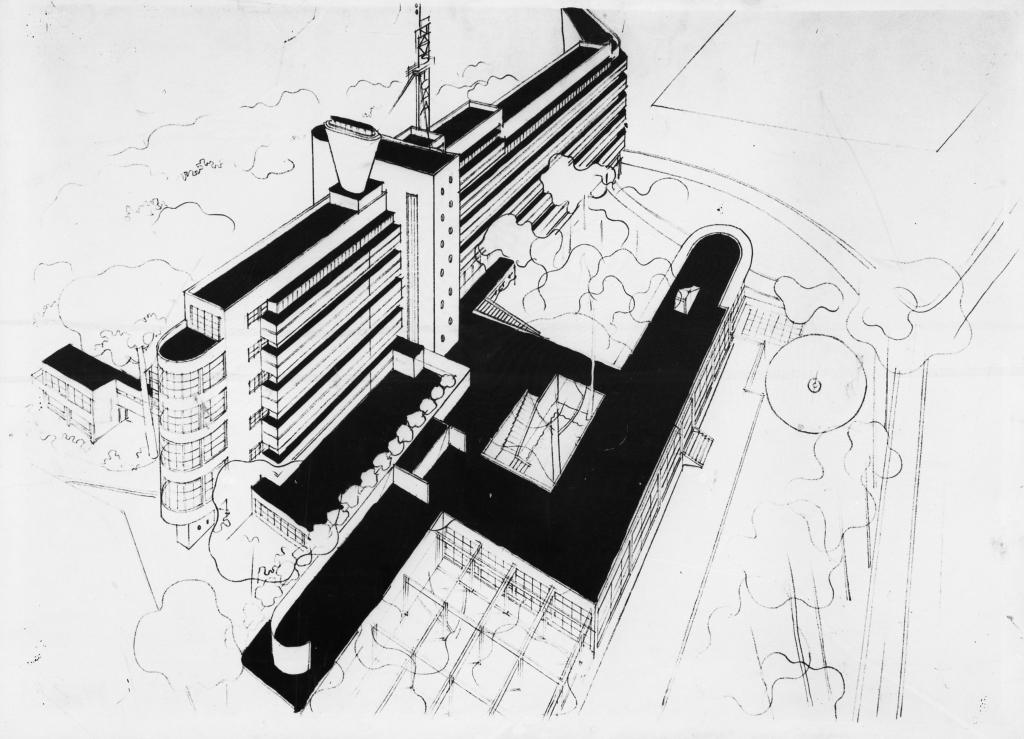 1930-1932. Hôtel Latitude 43, Saint-Tropez, pers. aérienne