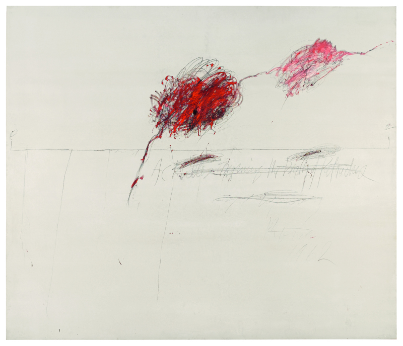 Achilles Mourning the death of Patroclus - Cy Twombly - Centre Pombidou