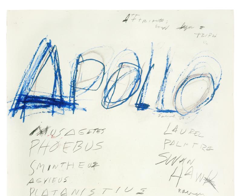 Apollo  Apollo  - Cy Twombly - Centre Pombidou