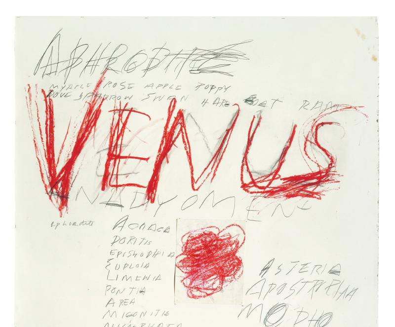 Venus - Cy Twombly - Centre Pompidou