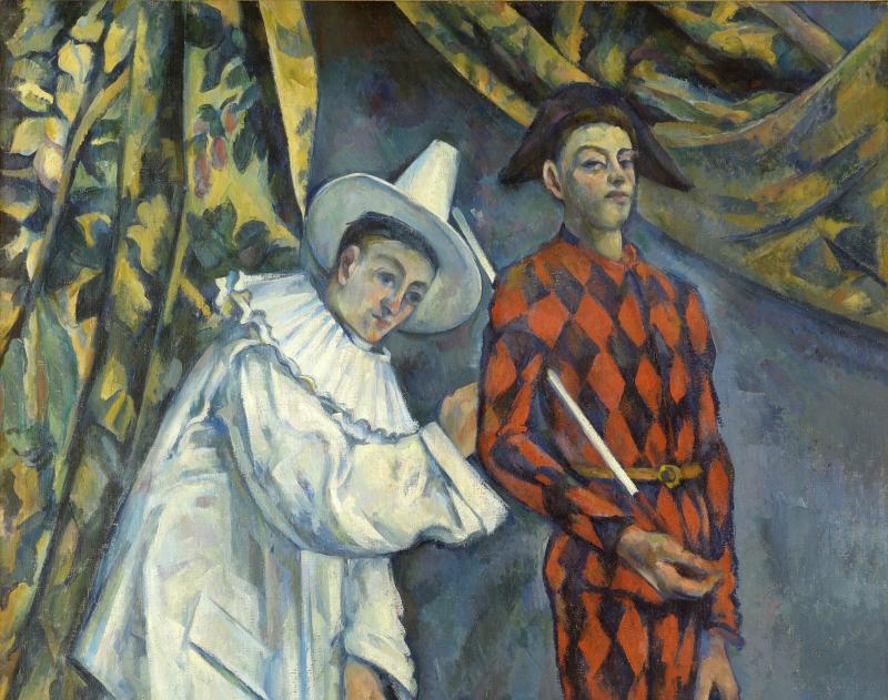 Paul Cezanne - Pierrot et Arlequin