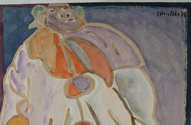 Pierrot Aquarelle 1976