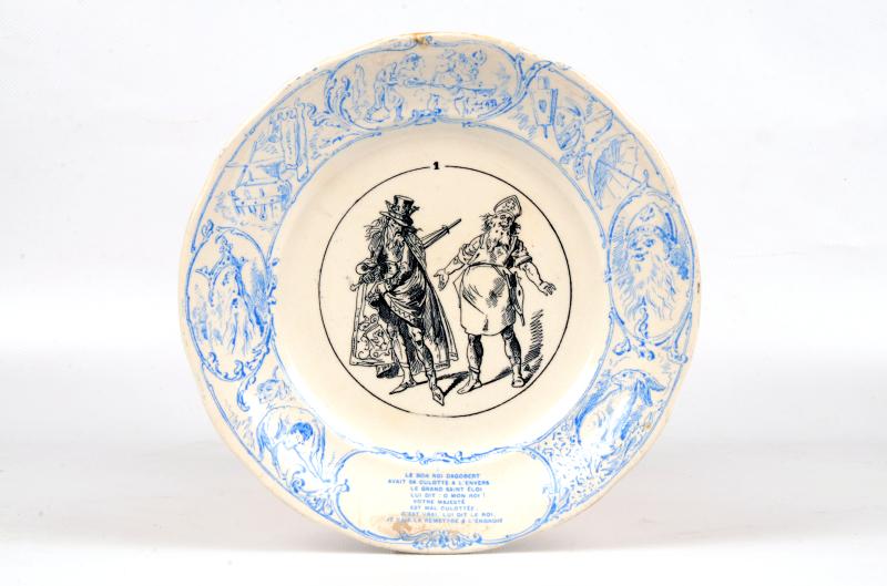 assiette-bon-roi-dagobert-musee-de-sarreguemines