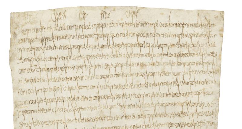 Feuillet manuscrit extrait du serment de Clovis - Austrasie le royaume merovingien oublie - Espace Camille Claudel - Saint-Dizier