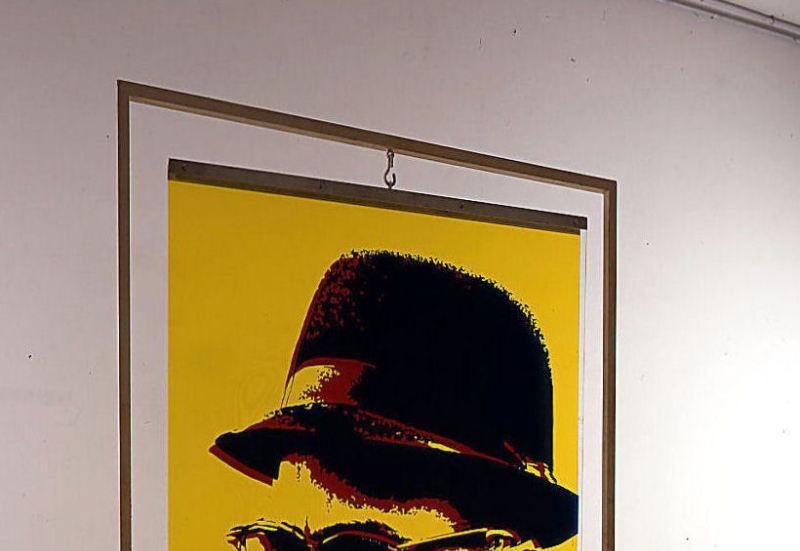 1968. Malcolm X  - Retrospective Bernard Rancillac - Musee de la poste