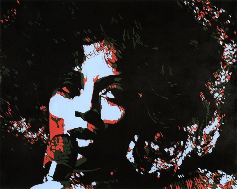 1974. Diana Ross - Retrospective Bernard Rancillac - Musee de la poste