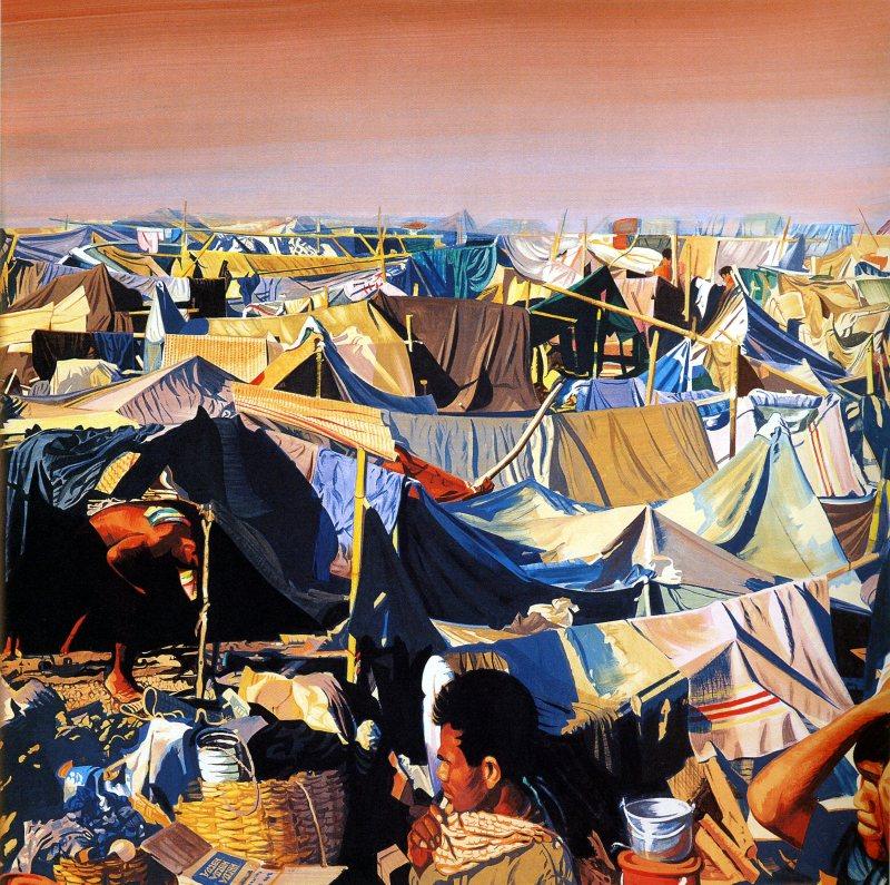 1996. Sakéo - Bernard Rancillac - Rétrospective à l'Espace Niemeyer
