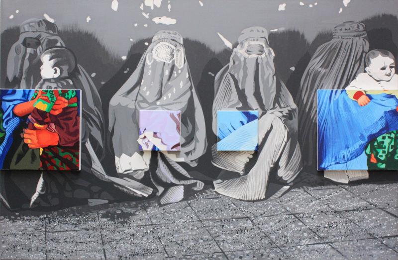 2004. Afghanes (Les) - Bernard Rancillac - Rétrospective à l'Espace Niemeyer